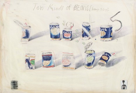 Candy Jernigan, THE NEW YORK COLLECTIONS, Ten Kinds of Beans (Homage to Goya), October 26, 1986, Greene Naftali