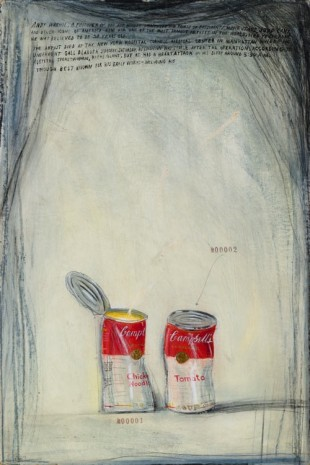 Candy Jernigan, Cambell's Soup Cans #00001-00002, c. 1987, Greene Naftali