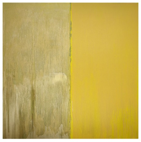 Pat Steir, NAPLES YELLOW AND MICA , 2013, Cheim & Read