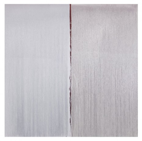Pat Steir, TWO WHITES OVER ANTIQUE RED OVER CADMIUM RED , 2013, Cheim & Read