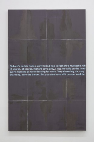 Donelle Woolford, Joke Painting (Necktie), 2014, WALLSPACE (closed)