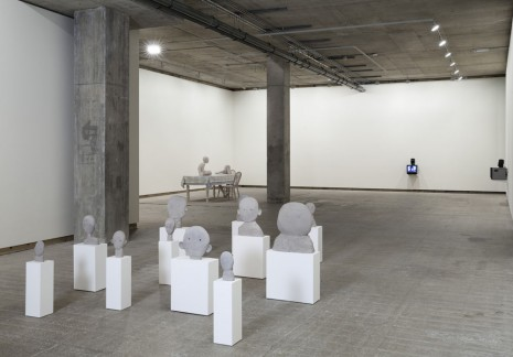Daphne Wright, Clay Heads, 2014, Frith Street Gallery