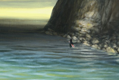 Dan Attoe, Surfers On Still Water 1(detail), 2013, Peres Projects