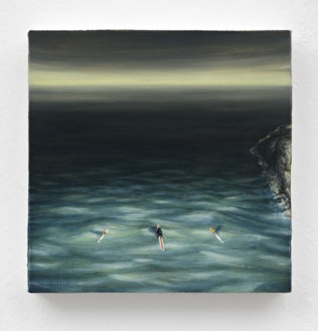 Dan Attoe, Surfers in Moonlight, 2013, Peres Projects