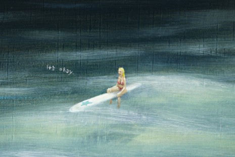 Dan Attoe, Surfers In Moonlight 2(detail), 2013, Peres Projects