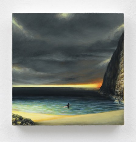 Dan Attoe, Surfer In Still Water, 2013, Peres Projects