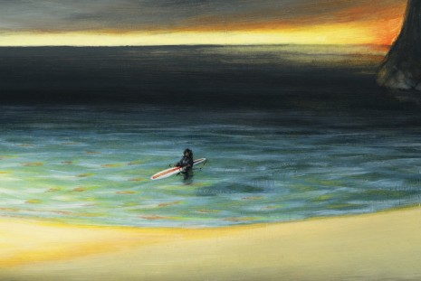 Dan Attoe, Surfer In Still Water(detail), 2013, Peres Projects