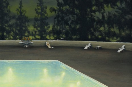 Dan Attoe, Swimming Pool at Night 2(detail), 2014, Peres Projects