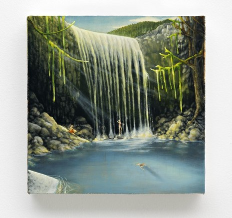 Dan Attoe, Couples and Waterfall, 2014, Peres Projects