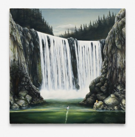 Dan Attoe, Couple and Waterfall, 2013, Peres Projects