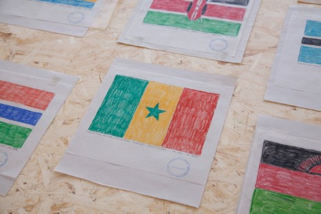 Paulo Nazareth, Drawings of African Flags (detail), 2014, Galleria Franco Noero