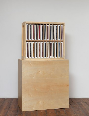 Allen Ruppersberg, THE BARRY THORPE COLLECTION OF 20TH CENTURY AMERICAN MUSIC BY ALLEN RUPPERSBERG 2014 (VOL.1)(bookcase), 2014, greengrassi