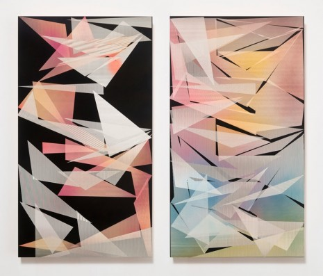 Pae White, Tissue diptych, 2014, kaufmann repetto