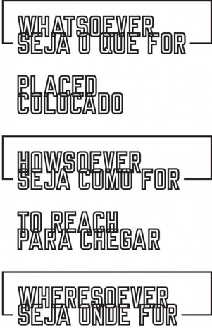 Lawrence Weiner, WHATSOEVER HOWSOEVER WHERESOEVER, 2011, Cristina Guerra Contemporary Art