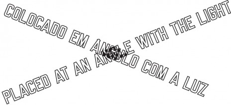 Lawrence Weiner, PLACED AT AN ANGLE WITH THE LIGHT, 1999, Cristina Guerra Contemporary Art