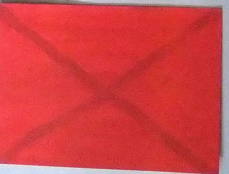 Mladen Stilinović, Crossed out red I, 1977, galerie frank elbaz