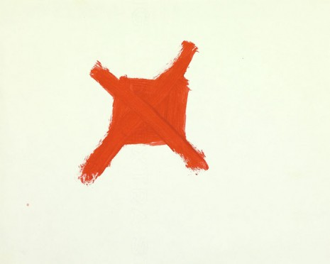 Mladen Stilinović, Crossed out red II, 1977, galerie frank elbaz
