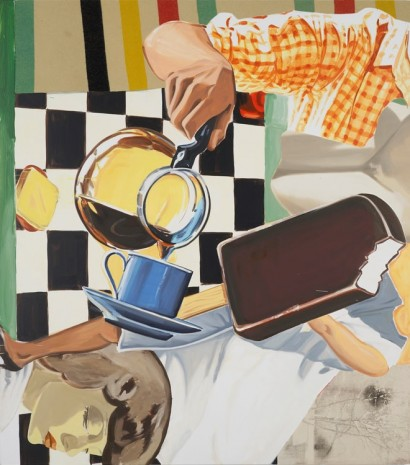 David Salle, Pour, Blanket, Wind, 2013
