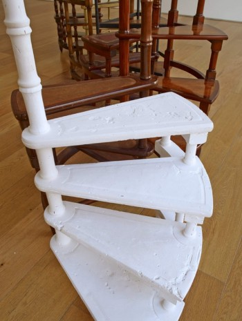 Valeska Soares, Spiralling (detail), 2014, Max Wigram Gallery (closed)