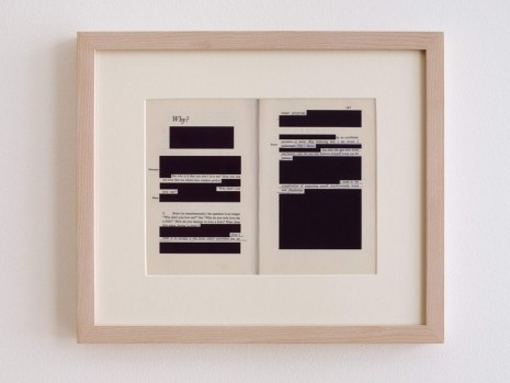 Valeska Soares, Edit (Why?), 2014, Max Wigram Gallery (closed)