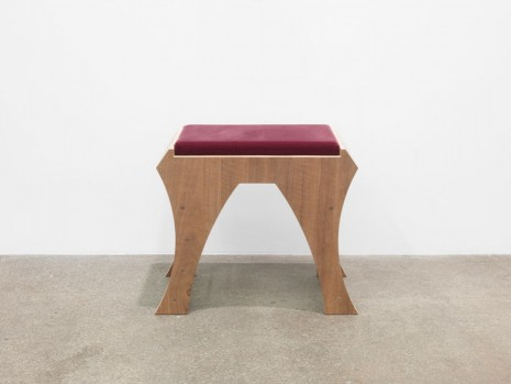 Marc Camille Chaimowicz, Piano Bench (Bordeaux), 2014, Andrew Kreps Gallery