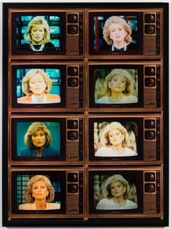 Robert Heinecken, TV Newswomen Corresponding (Faith Daniels and Barbara Walters), 1986, Petzel Gallery
