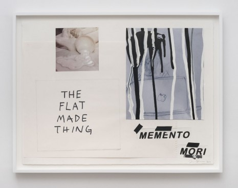 Frances Stark, The Flat Made Thing, Memento Mori, 2014, Marc Foxx (closed)
