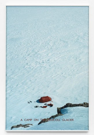 Richard Long,  A Camp on the Driscoll Glacier , 2012, Lisson Gallery