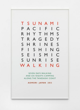 Richard Long, Tsunami Walking, 2013, Lisson Gallery