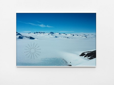 Richard Long, Antarctic Footprints, 2012, Lisson Gallery