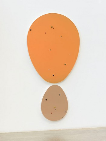 Thomas Grünfeld, Untitled (Egg / Orange) + o.T. (Egg / Nude), 2014, Massimo De Carlo