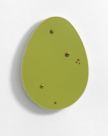 Thomas Grünfeld, Untitled (Egg / Green-Yellow), 2014, Massimo De Carlo