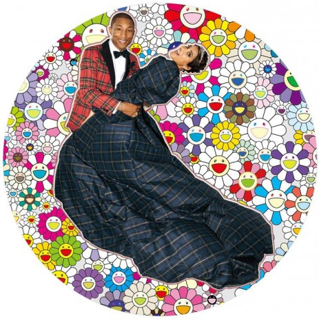 Takashi Murakami, Portrait of Pharrell and Helen - Dance, 2014, Perrotin