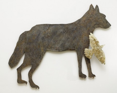 Kiki Smith, Wolf with Birds IV, 2010, Galleria Continua