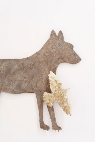 Kiki Smith, Wolf with Birds IV (detail), 2010, Galleria Continua