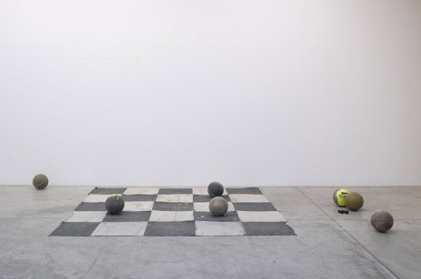 Oscar Murillo, Carlos I Ishikawa's members club, 2014, Marian Goodman Gallery