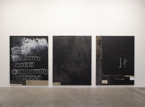 Oscar Murillo, 1 ½ + (lessons in aesthetics & productivity), 2014, Marian Goodman Gallery