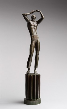 Carl Milles, Man with Automobile, 1933, Marianne Boesky Gallery