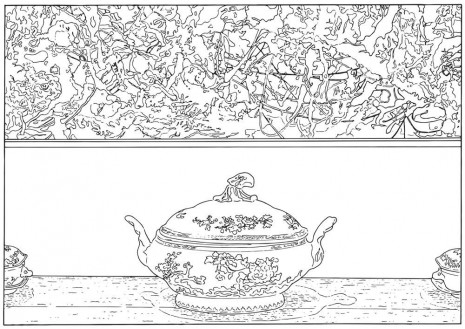 Louise Lawler, Pollock and Tureen (traced), 1984 / 2013, Sprüth Magers