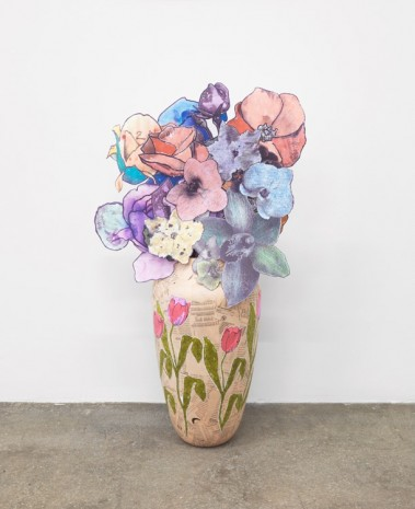 Marc Camille Chaimowicz, Vase (prototype) and paper bouquet, 1997 - 2014, Anton Kern Gallery