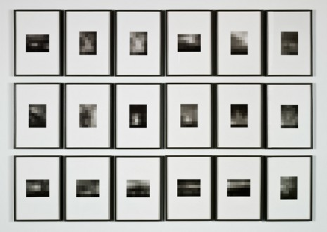 Sherrie Levine, Equivalents: After Stieglitz 1–18, 2006, Andrea Rosen Gallery (closed)