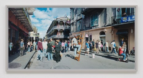 Scott McFarland, Man on Ladder, Royal Street, New Orleans, 2012, Regen Projects