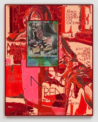 Matthew Day Jackson, Subject-Object-Environment-Problem (Red), 2014, Hauser & Wirth
