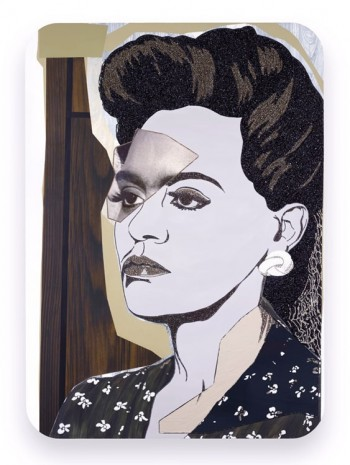Mickalene Thomas, Clarivel Right, 2014, Galerie Nathalie Obadia