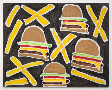Katherine Bernhardt, Cheeseburgers and French Fries, 2014, Modern Art