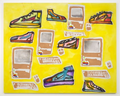 Katherine Bernhardt, Apple Computers and Sneakers, 2014, Modern Art