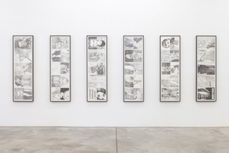 Jonathan Monk, Untitled (July/August), Untitled (September/October), Untitled (November/December), Untitled (January/February), Untitled (March/April), Untitled (May/June), 2014, Casey Kaplan