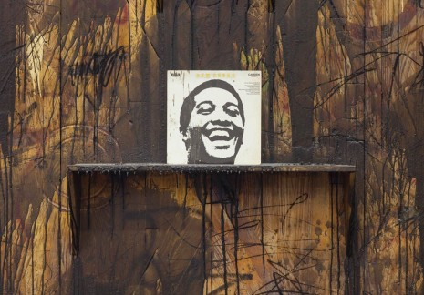 Rashid Johnson, Two Smiles (detail), 2014, David Kordansky Gallery