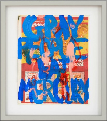 William Pope.L, Gray People Eat Mercury, 2014, Galerie Catherine Bastide