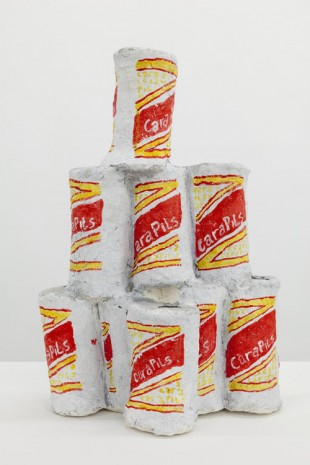 The Bruce High Quality Foundation, Aftermaths, Beer can stack, 2014, Almine Rech